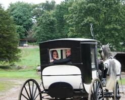 From their Allegra Farm wedding near Colchester, CT Jennifer and Benjamin head off to happily ever after.