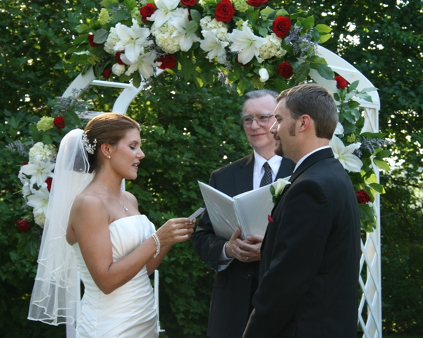 Andrea wrote her own heart-felt vows.