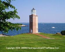The Avery Point Lighthouse is a nice place for wedding pictures.