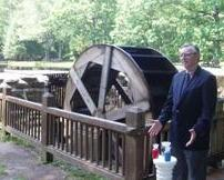 Have your wedding pictures by the waterwheel at Chatfield Hollow State Park.