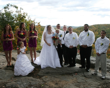 Fall wedding in Devil's Hopyard