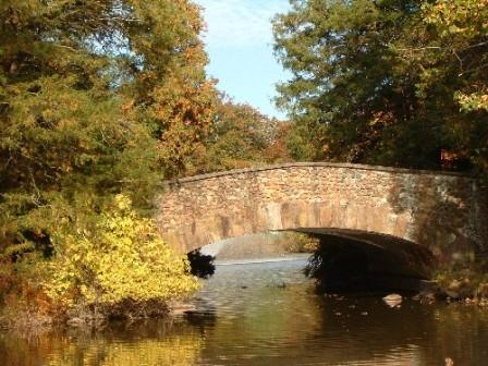 The stone bridge in Elizabeth Park provides a backdrop for photos