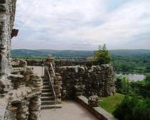 Gillette Castle In East Haddam Ct Looking At The Terrace And Connecticut River