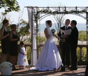 One of the best places for beach wedding ceremonies in CT!