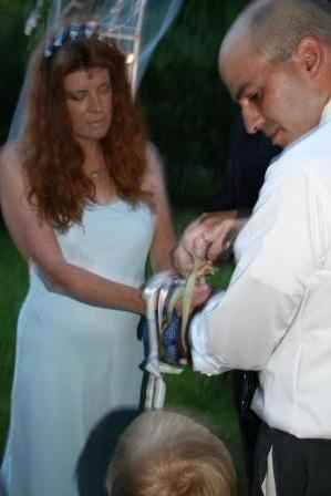 Jamie and John's handfasting.
