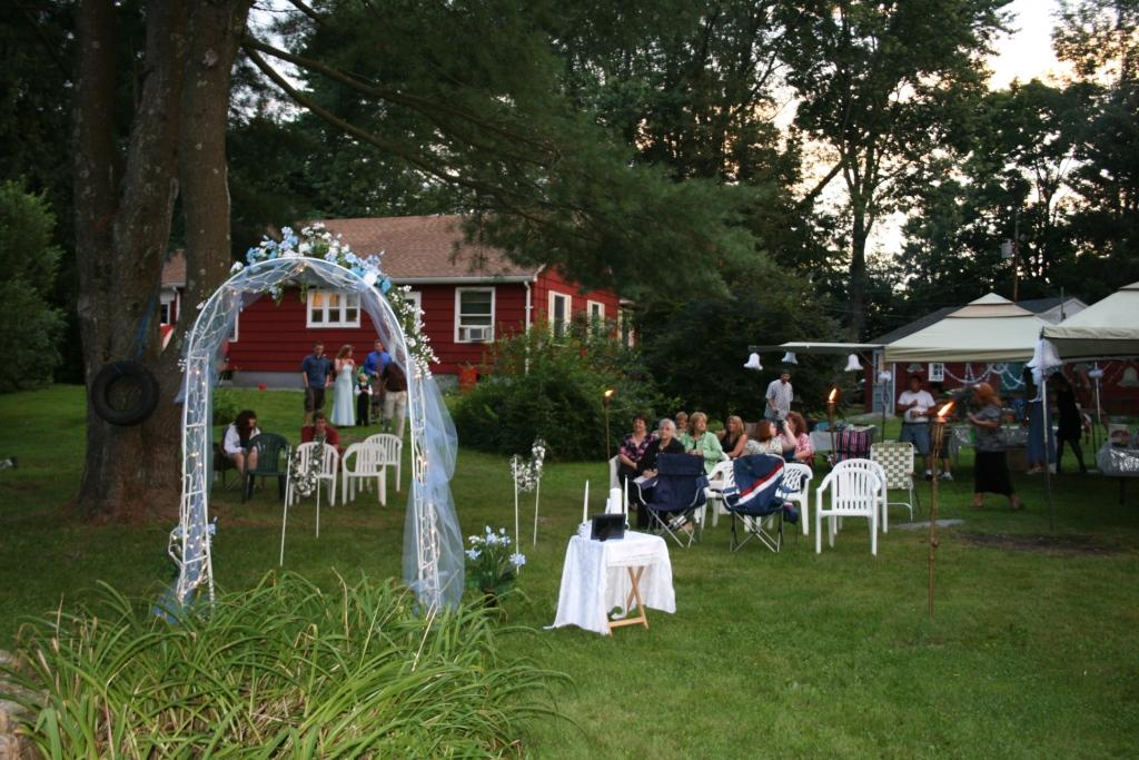 Is it easy to put on a backyard wedding?  Yes!