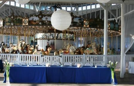 Carousel wedding reception at Lighthouse Point Park Park