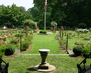 View from the Mohegan Park Rose Garden gazebo in Norwich, CT