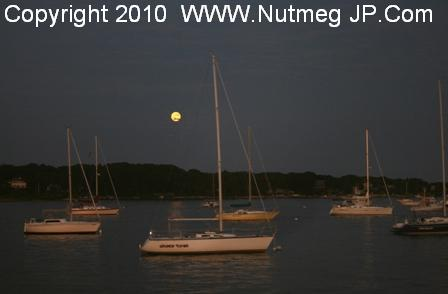 Mystic Seaport moonlight wedding cruise aboard the Sabino: Jennifer and Kevin
