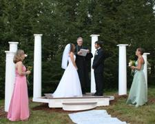 A meadow wedding in a backyard in Ledyard, CT.