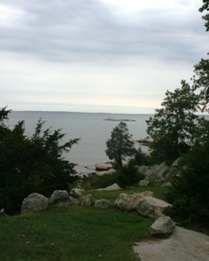 One of Rocky Neck's natural overlooks, perfect for a New London County water wedding