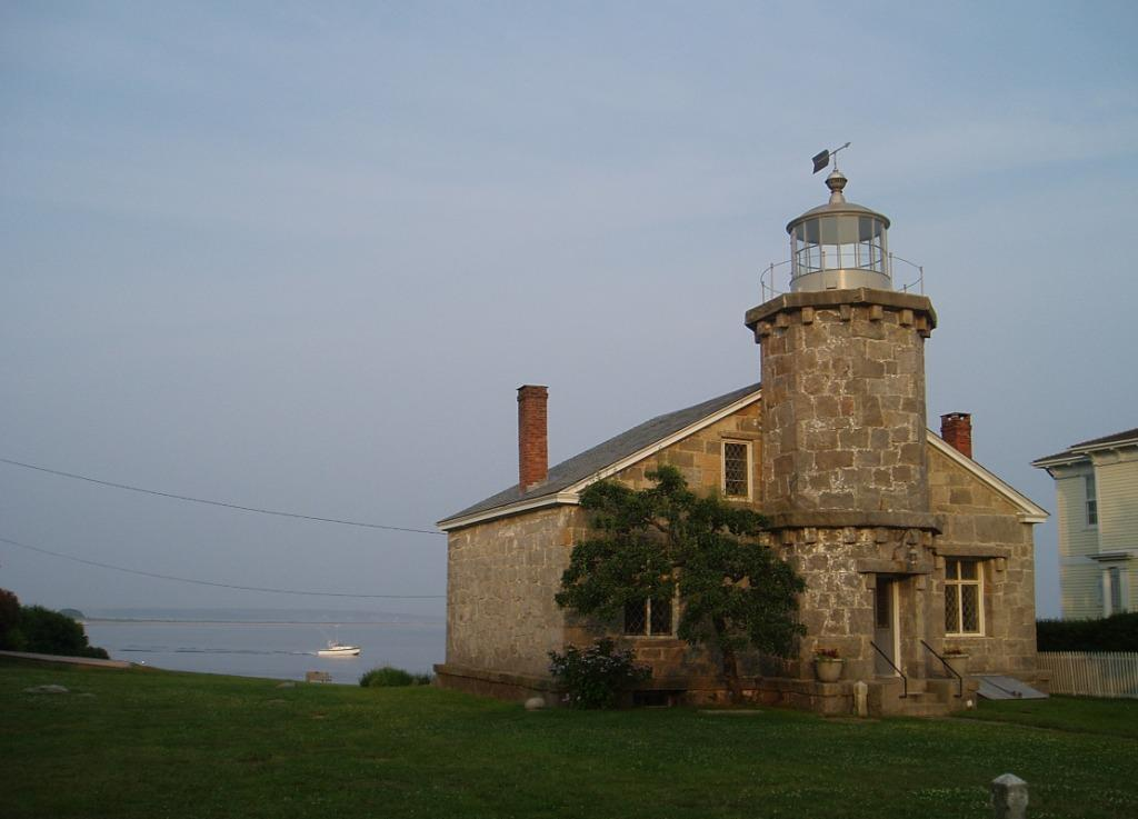 The Stonington Lighthouse Museum, in Stonington, CT, ready for a sunset wedding
