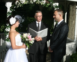 Lindsey and Nathan exchanging vows