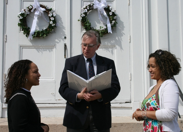 Zendy and Latasha had an elopement-type ceremony in Ledyard, CT.